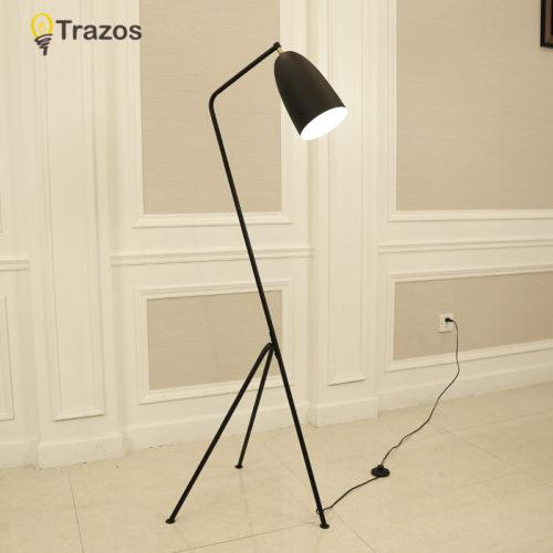 Минималистичный напольный железный торшер лампа (высота 128 см)