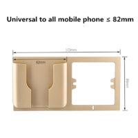 Настенный держатель карман для телефона для размещения рядом с розеткой во время зарядки