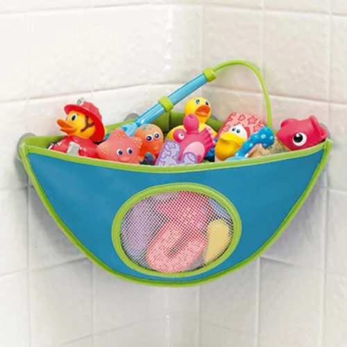 Угловой держатель органайзер на присосках для детских игрушек в ванную