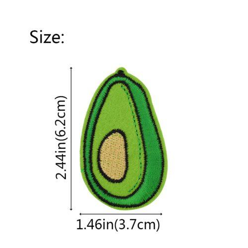 Патчи нашивки для одежды в виде авокадо 10 шт.