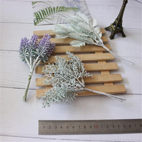Искусственные веточки, цветы, шишки для DIY поделок, новогодних венков