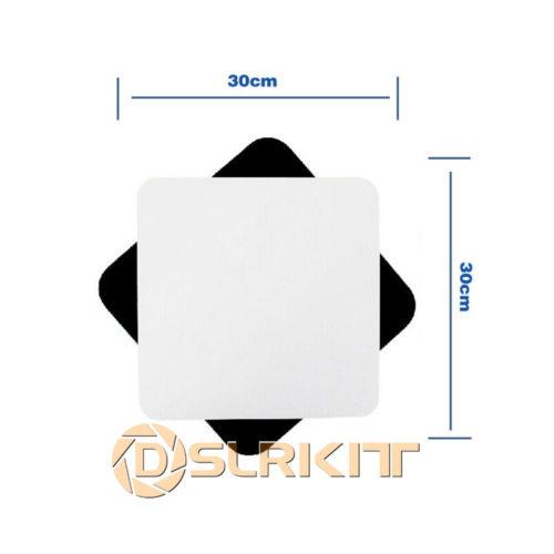 Акриловые белая и черная пластины для предметной съёмки 30×30 см 2 шт.