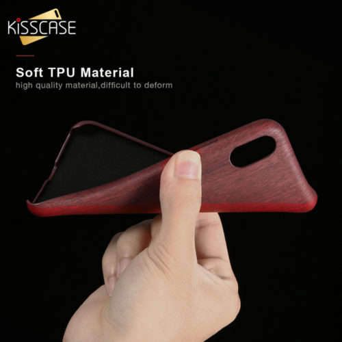 Чехол для iPhone из искусственной кожи под дерево