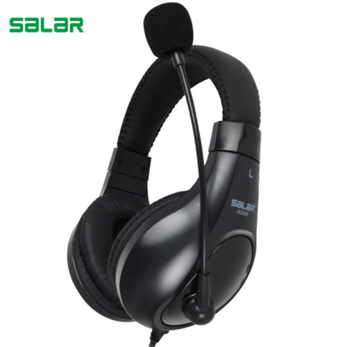 Salar A566 профессиональные накладные игровые наушники гарнитура с микрофоном для ПК