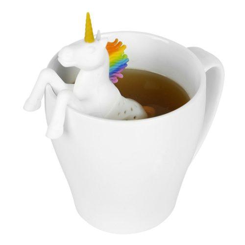 Силиконовый заварник для чая в виде единорога