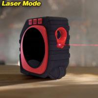 Измерительная рулетка с дисплеем 3 в 1: шнурок, дальномер, ролик