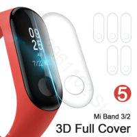 Защитная пленка для экрана фитнес браслета Xiaomi mi Band 2 / 3 (в наборе 5 шт.)