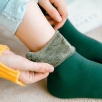 Зимние черные или бежевые женские утепленные бесшовные носки