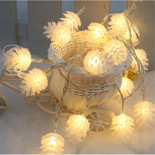 Светодиодная новогодняя гирлянда 3 м с лампочками-шишками