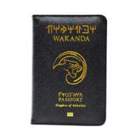 Обложка на паспорт с символикой Ваканды (Wakanda)