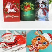Алмазная мозаика DIY Новогодняя открытка