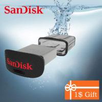 SanDisk FIT Компактная USB флешка с разными адаптерами для магнитолы, компьютера