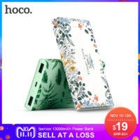 HOCO Power bank портативное зарядное устройство аккумулятор с цветочным и растительным принтом 13 000/20 000 мАч