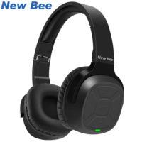 New Bee Накладные беспроводные Bluetooth наушники с микрофоном