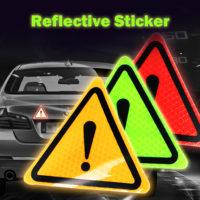 Светоотражающая наклейка с восклицательным знаком на автомобиль