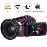 Видеокамера с широкоугольным объективом 4К Ultra HD 60 FPS