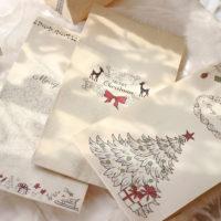 Крафтовые рождественские пакеты для подарков на новый год 6 шт.