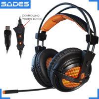 SADES A6 проводные накладные игровые наушники с микрофоном