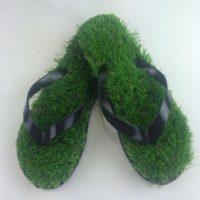 Тапочки сланцы с травой