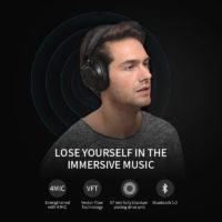 Bluedio T6S Беспроводные накладные Bluetooth наушники гарнитура с микрофоном