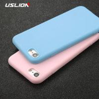 Полиуретановый ультратонкий матовый однотонный чехол задняя крышка на айфон iPhone