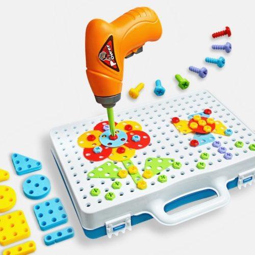 Drill and design mosaic art Детский конструктор-мозаика чемоданчик с дрелью