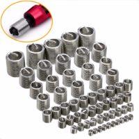 Вставки для восстановления резьбы разного диаметра 60 шт.