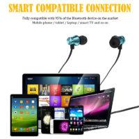 YEINDBOO магнитные спортивные беспроводные спортивные Bluetooth наушники с микрофоном и активным шумоподавлением