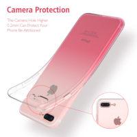 FLOVEME Силиконовый полупрозрачный мягкий чехол-бампер с градиентом на айфон (iPhone)