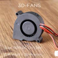 Вентилятор Anet 5015 радиальный (улитка) для 3D-принтера 12/24В, 50x50x15 мм