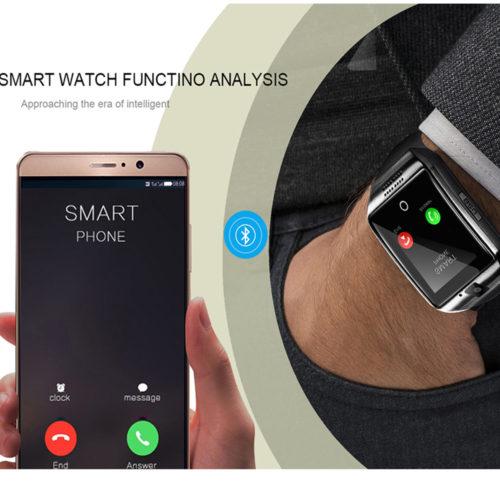 LEMFO Q18 Smart Watch Умные Bluetooth смарт часы с сенсорным экраном и поддержкой Sim-карты и TF карты