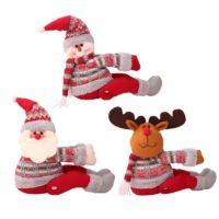 Новогодняя мягкая игрушка держатель штор в виде снеговика, Санта Клауса или оленя