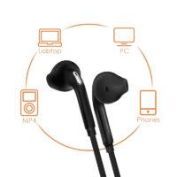 ANBES проводные стерео наушники-вкладыши для телефона с микрофоном и регулятором громкости