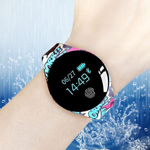 Smart Watch Умные Bluetooth смарт часы с сенсорным круглым экраном и цветным силиконовым ремешком