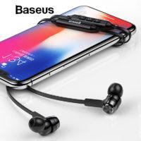 Baseus S06 магнитные спортивные беспроводные спортивные Bluetooth наушники с микрофоном