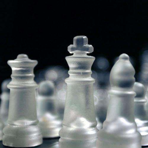 Стеклянные шахматы 25х25 см