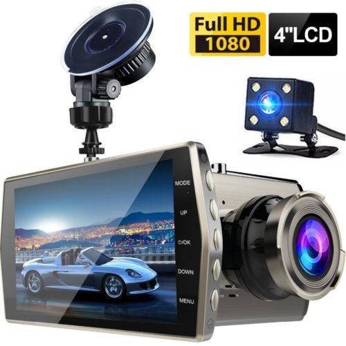 Dash Cam Full HD 1080P автомобильный видеорегистратор камера ночного видения + задняя водонепроницаемая камера