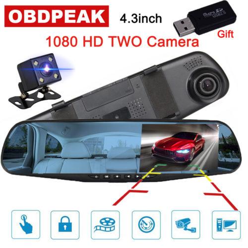 Автомобильный видеорегистратор зеркало заднего вида 1080p