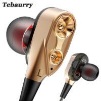 Tebaurry R8 проводные наушники вкладыши для телефона с сабвуфером и микрофоном