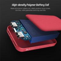 ROCK P51 Mini power bank Dual USB портативное мини зарядное устройство 10000 мАч