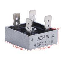 Диодные мосты KBPC5010 50A 1000В 5 шт.