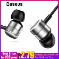 Baseus Encok-H04 Bass Sound Music Earphone Наушники-вкладыши гарнитура с микрофоном