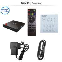 VONTAR X96W Smart tv box android 7.1 Amlogic S905W Беспроводной медиаплеер смарт тв-приставка к телевизору + клавиатура, пульт или геймпад