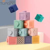 Tumama 12 шт. Мягкие резиновые кубики конструктор для детей