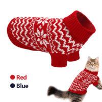 Новогодний вязаный свитер для кота и кошки (разные размеры)