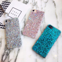 MaxGear мягкий силиконовый чехол с сияющими блестками для всех моделей iPhone (айфон)