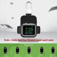 Беспроводное портативное зарядное устройство QI брелок для ключей для Apple Watch