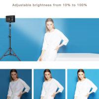 Spash TL-160S светодиодный видеосвет со стойками для фотографа, визажиста 4 шт. 3200 / 5600 К
