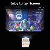 Excelvan Q2 мини-проектор 700 люмен для детей