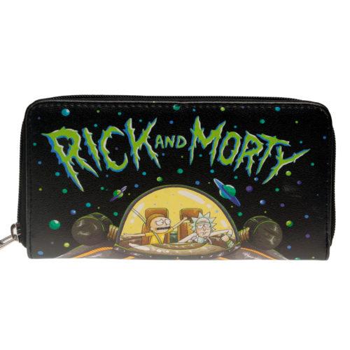 Большой длинный кошелек на молнии из искусственной кожи Рик и Морти (Rick and Morty)